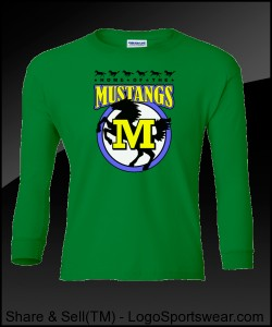 Mustang Youth Long Sleeve T-Shirt Design Zoom
