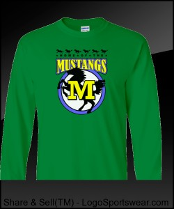 Mustang Adult Long Sleeve T-Shirt Design Zoom