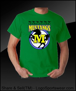 Mustang Adult T-shirt Design Zoom