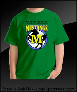 Mustang Youth T-shirt Design Zoom